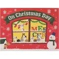 クリスマスカード ネコポップアップ ロゴ (レッド)